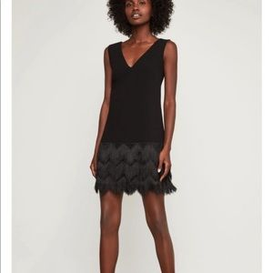 BCBGMAXAZRIA little Black Fringe Dress Addilyn